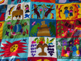 Embroidered Textile  Santiago Atitlan  Lake Atitlan  Guatemala  Central America