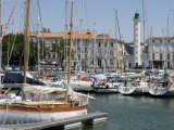 General View of the Yatch Basin and Lighthouse  La Rochelle  Charente-Maritime  France  Europe