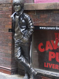 Statue of John Lennon Near the Original Cavern Club  Matthew Street  Liverpool  Merseyside