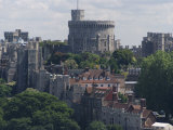 Aerial View  Windsor Castle  Windsor  Berkshire  England  United Kingdom  Europe