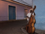 Bass Player  Santiago De Cuba  Cuba  West Indies  Central America