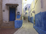 Typical Street in Old Town  Rabat  Morocco  North Africa  Africa