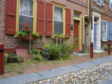 Historic Elfreth's Alley  Old City District  Philadelphia  Pennsylvania