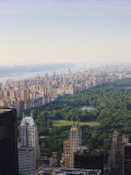 View over Central Park and the Upper West Side Skyline  Manhattan