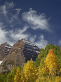 Maroon Bells with Fall Color  White River National Forest  Colorado