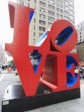 The Pop Art Love Sculpture by Robert Indiana  Sixth Avenue  Manhattan