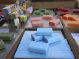 Different Types of Soap on Stall in a Street Market on the French Riviera  Provence