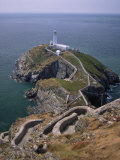 South Stack Lighthouse on the Western Tip of Holy Island  Anglesey