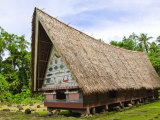 Men&#39;s Meeting House at Belau National Museum Koror  Republic of Palau  Pacific