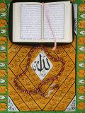 Koran  Rosary and Allah Calligraphy  Paris  France  Europe