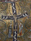 12th Century Fresco of Christ's Triumph on the Cross  San Clemente Basilica  Rome  Lazio