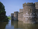 Moat and Outer Curtain Wall at Beaumaris Castle
