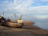 Fishing Boats on Pebble Beach  Hastings  Sussex  England  United Kingdom  Europe