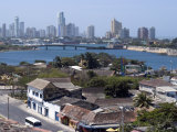 View from Fort San Felipe Towards Boca Grande  Cartagena  Colombia  South America