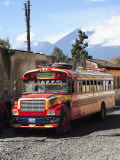 Public Bus  Antigua  Guatemala  Central America