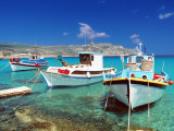 Fishing Boats at Anopi Beach  Karpathos  Dodecanese  Greek Islands  Greece  Europe
