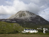 Mount Errigal and Dunlewy Village  County Donegal  Ulster  Republic of Ireland  Europe