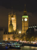Big Ben and the Houses of Parliament by the River Thames at Dusk  Westminster  London