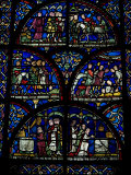 Stained Glass Window  Canterbury Cathedral  Canterbury  Kent