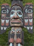 Tlingit Chief Johnson Totem Pole  Ketchikan  Alaska  United States of America  North America