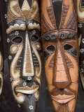 Carved Wooden Masks  Tampaksiring Village  Bali  Indonesia  Southeast Asia  Asia