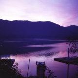 Sunset on Lake Quinault  Olympic National Park  Washington United States of America