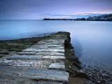 Stone Jetty and New Pier at Dawn  Swanage  Dorset  England  United Kingdom  Europe