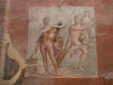 Roman Frescoes at Ercolano  UNESCO World Heritage Site  Campania  Italy  Europe