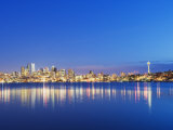 Downtown Buildings and Space Needle Seen from Lake Union  Seattle  Washington State