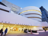 Solomon R Guggenheim Museum  Built in 1959  Designed by Frank Lloyd Wright  Manhattan