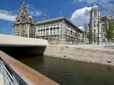The New Link Between the Leeds and Liverpool Canals  in Front of the Three Graces