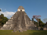 Gran Plaza and Temple I  Mayan Archaeological Site  Tikal  Guatemala