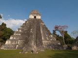 Gran Plaza and Temple I  Mayan Archaeological Site  Tikal  Guatemala