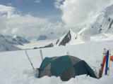 Tent Set at 9700 Ft Camp  Denali National Park  Alaska  United States of America  North America