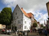 Street Scene in Tonder  Jutland  Denmark  Scandinavia  Europe