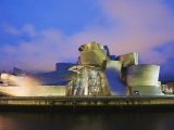 The Guggenheim  Designed by Canadian-American Architect Frank Gehry  on the Nervion River