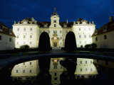 Baroque Valtice Chateau at Twilight  Valtice  Brnensko Region  Czech Republic  Europe