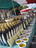 Olive Oil Stall at the Italian Market at Walton-On-Thames  Surrey