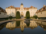 Baroque Valtice Chateau at Sunrise  Valtice  Brnensko Region  Czech Republic  Europe