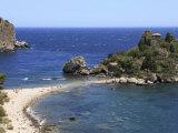 Beach  Isola Bella  Taormina  Sicily  Italy  Mediterranean  Europe