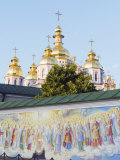 Fresco on Wall of St Michaels Gold Domed Monastery  2001 Copy of 1108 Original  Kiev  Ukraine