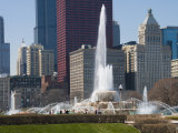 Buckingham Fountain in Grant Park  Chicago  Illinois  United States of America  North America