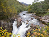 Lower Falls on the Water of Nevis in Autumn  Glen Nevis  Near Fort William