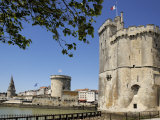 View of the Three Towers at the Entrance to Vieux Port  La Rochelle  Charente-Maritime