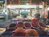 Fruit Stands at a Street Market in the Muslim Area of Xian  Shaanxi Province  China  Asia