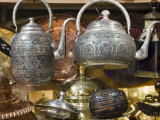 Traditional Ornate Kettles for Sale  Grand Bazaar  Istanbul  Turkey  Europe
