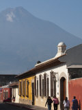 Colonial Buildings and Volcan De Agua  Antigua  Guatemala  Central America