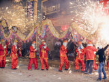 Fire Dragon Lunar New Year Festival  Taijiang Town  Guizhou Province  China  Asia