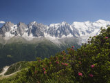 Mont Blanc and Chamonix Valley  Rhone Alps  France  Europe