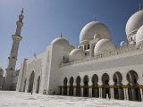 Courtyard  Domes and Minarets of the New Sheikh Zayed Bin Sultan Al Nahyan Mosque  Grand Mosque